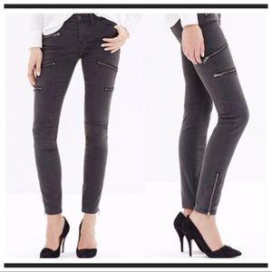 Madewell Skinny Skinny Multi-Zip Moto Jeans 28